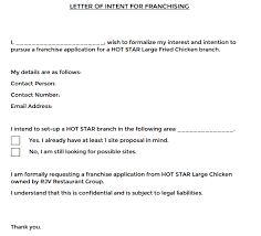 Examples Of Letter Of Intent 2 Letters Of Intent For Franchise Find Word Letters