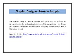 graphic designer resume sample pdf
