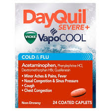 Tylenol Cold And Flu Severe Dosage Chart Dayquil Severe Vapocool Daytime Cough Cold Flu Relief