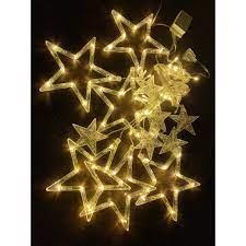 Đèn led trang trí - Dây Đèn Led Ngôi Sao Dài 3M 12 Ngôi sao May Mắn Trang  Trí Ngoài Trời Noel Sân Vườn - Đèn trang trí