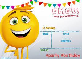 Free Invitation Design Templates FREE Printable Emoji Invitation Template Drevio Invitations Design 19