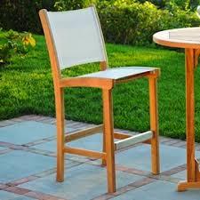 kingsley bate st tropez teak armless bar chair by kingsley bate