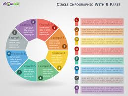 Infographics For Powerpoint Circle Infographic With 8 Parts For Powerpoint