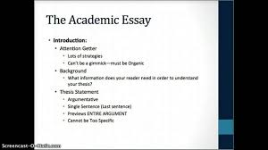 conventions of the academic essay conventions of the academic essay