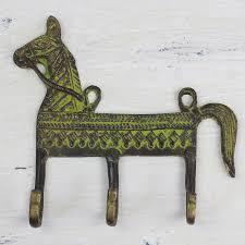 Horse Coat Rack Adorable Novica Helpful Horse Brass Coat Rack Wayfair