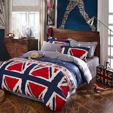 100 cotton preppy style flat sheet linens blue tango bedding sets uk flags blue stripes