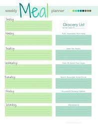 Weekly Menu Planner Template Planner Template Free