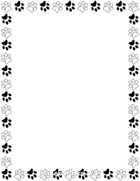 word for black and white printable black and white paw print border use the border in