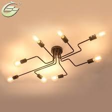 gorgeous multi bulb ceiling light heads vintage wrought iron multiple rod lamp retro standing