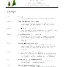Dance Instructor Resume Extraordinary Dance Resume Template Beginner Dance Resume Template Example