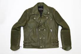 sd new york s of mankind clothing leather sd new york leather moto jacket olive green