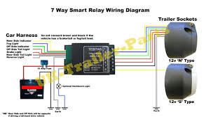 7 way universal bypass relay wiring diagram with trailer lights trailer wiring diagram 7 pin at Universal Trailer Plug Wiring Diagram 7