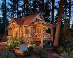 Rustic wood exterior home idea in Sacramento