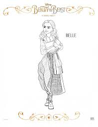 Belle Beauty And The Beast Coloring Pages Wumingme