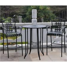 piece iron patio bar height bistro set