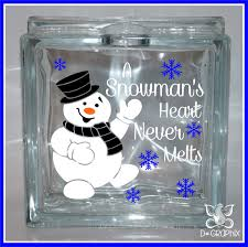 household dining table set christmas snowman knife: a snowmans heart never melts  christmas glass block decal sticker diy glass block light decal sticker holiday sign vinyl