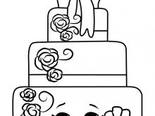Cake Coloring Pages Wendy Wedding Cake Shopkins Coloring Page Free