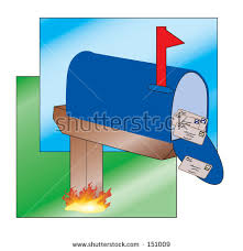 Mailbox Flag Up Letters Can Be Stock Illustration 151009 Shutterstock