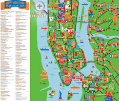 download sightseeing map of nyc  major tourist attractions maps