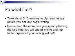 essay    minutes