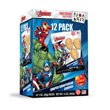 Avengers Marvel Shortbread Multi 12pk Box Gift With Purchase
