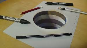 drawing 3d hole for kids how to draw 3d circular hole trick art for