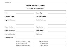 Customer Form Template Customer Information Template Customer Information Form Template