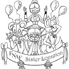 Fnaf Coloring Pages Bonnie Coloring Sheets Sister Location Page