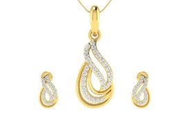 caylin diamond pendant earrings set