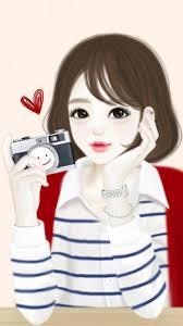 Cute Korean Girls Cartoon Drawing (Page ...