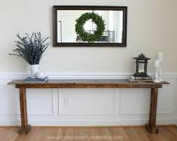 how to build diy console table