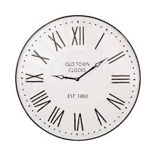 oversized farmhouse metal enamel wall clock