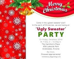 Company Party Invitation Sample Corporate Holiday In Dinner