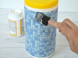 how to make clorox wipes make these easy decorated wipes containers to match your decor and