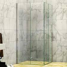 concertina corner entry shower screen