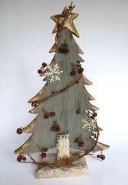 interesting design rustic wood christmas tree branch santas holiday  figurine wooden santa primitive - Wood Christmas