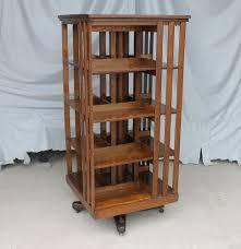 Antique Revolving Oak Bookcase  original finish  Danner - mission style