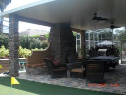 Outdoor Kitchen Roof Modern Covered Outdoor Kitchens With Pool Covering An Outdoor