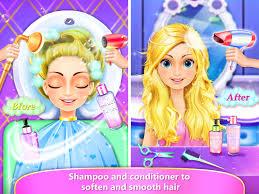 rainbow hair salon dress up