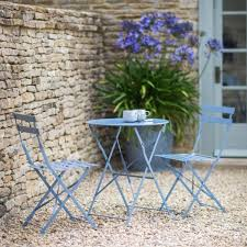 round outdoor metal table. Small Round Table And 2 Chairs Bistro Set In Blue Outdoor Metal