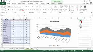 How To Insert Chart Title Microsoft Office Excel 2013 Tutorial Adding Chart Titles And Legends K Alliance