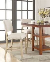 beautiful ave six carson counter bar stool offers thick padded seat with nailhead trim and solid wood frame and legs in light reclaimed finish
