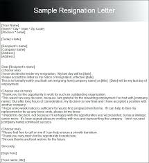 Example Of Resignation Letter In Work New Two Week Resignation ...