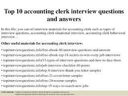 Top 10 Accounting Clerk Interview Questions And Answers