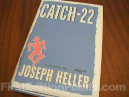picture of the 1961 first edition dust jacket for catch 22