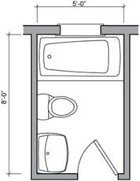 image result for small bathroom floor plans 5 x 8