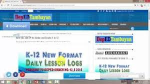 daily lesson log format deped tambayan daily lesson log free video search site findclip
