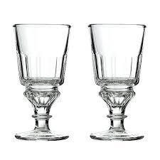 la rochere glassware set of 2 reservoir style absinthe glass oz capacity bee glasses