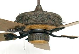 architecture craftmade log cabin ceiling fan brilliant rustic fans cast resin lighting with pinecone regarding