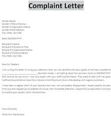 Formal Complaint Letter Template Word To Landlord Complain